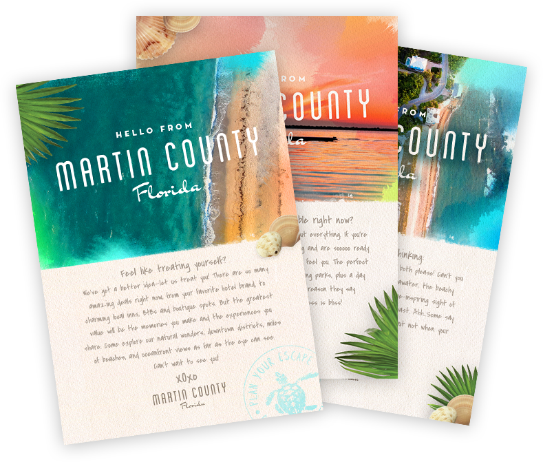 You can now send digital postcards from Martin County to anyone in the world for free!