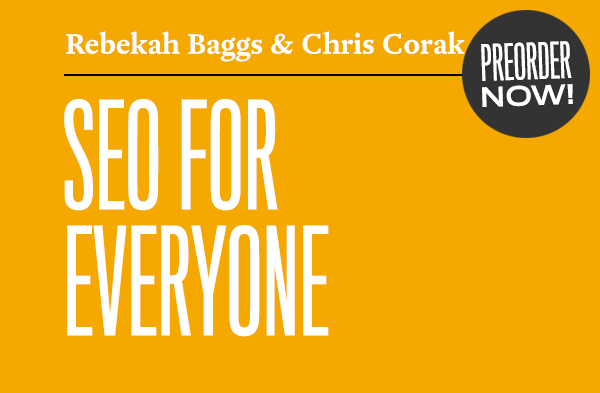 SEO for Everyone preorder graphic.