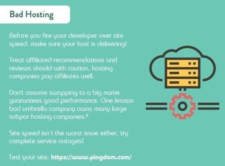 bad hosting infographic